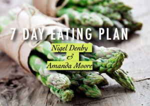 7 Day eating plan cover showing asparagus